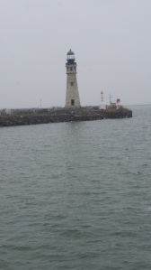 "The Buffalo Lighthouse. My favorite subject on my  ""lunch break"" workout every day."