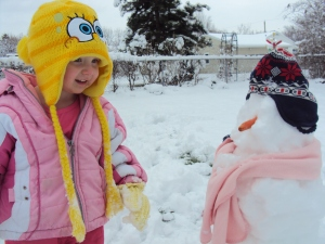 Snowmen are the best example of Winter Interest yet!